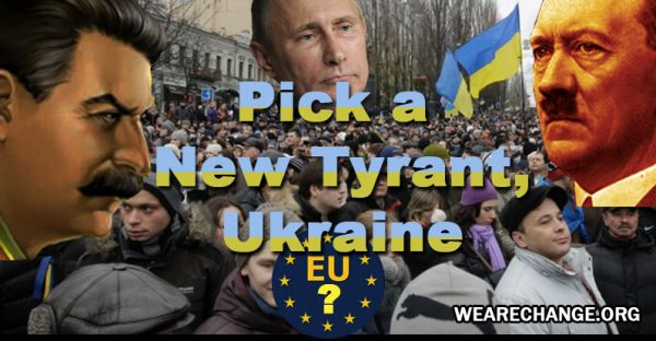 Beleaguered Ukrainians are protesting their government's refusal to sign an agreement with the EU