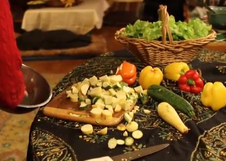 Mealtime at Garden of Eden