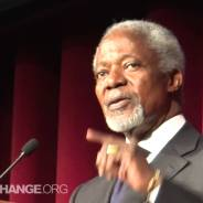 Kofi Annan Confronted While Calling For New World Order