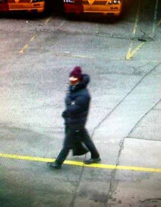 CCTV image shows a man 'suspected' of being involved in the first shooting in Copenhagen.