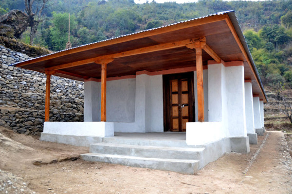 This earthbag school is in a remote village in the Solkhumbu District of Nepal.
