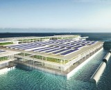 This solar powered floating farm can produce 20 tons of vegetables every day