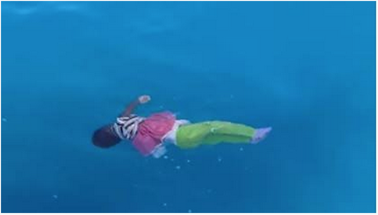 Dear little girl at sea…