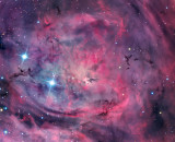 NASA Unveils New Images of Lagoon Nebula