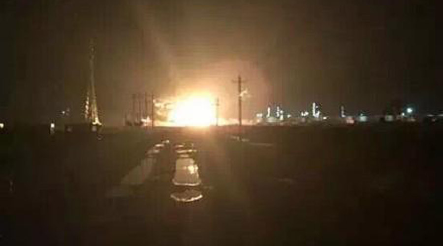 Enormous new factory blast rocks Chinese industrial region