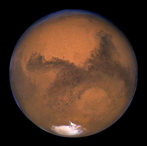 NASA's Hubble Space Telescope took this snapshot of Mars 11 hours before the planet made its closest..