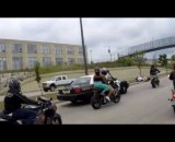 Cop runs motorcyclists off the road, blames the bikers.