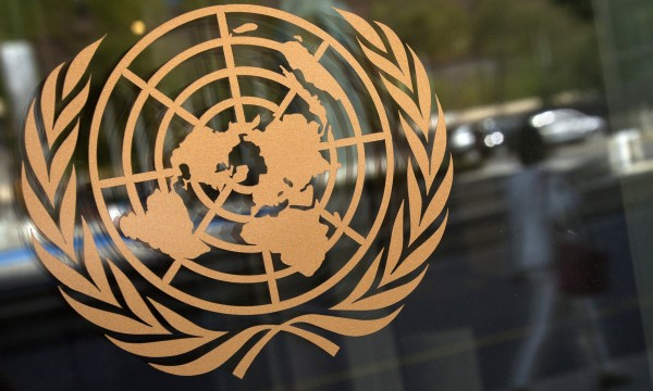 The United Nations logo - the planet in the crosshairs?