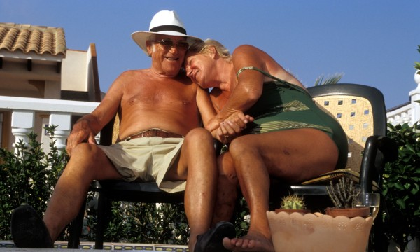Retired British couple living in Costa Blanca Spain