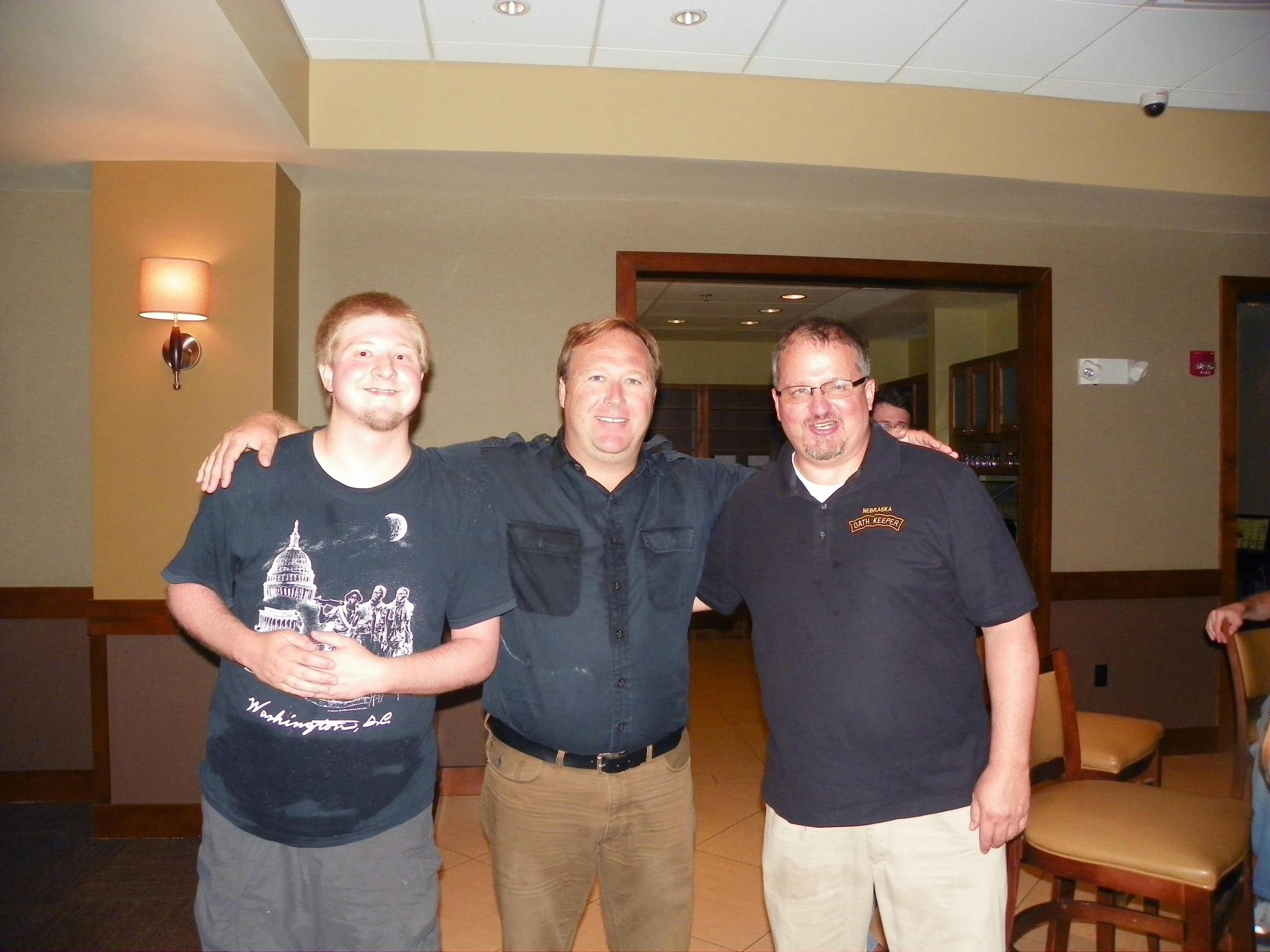 10-USWGO Founder Brian D. Hill with Infowars founder Alex Jones and Oath Keepers founder Stewart Rhodes