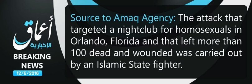 ISIS CLaims respons orlando