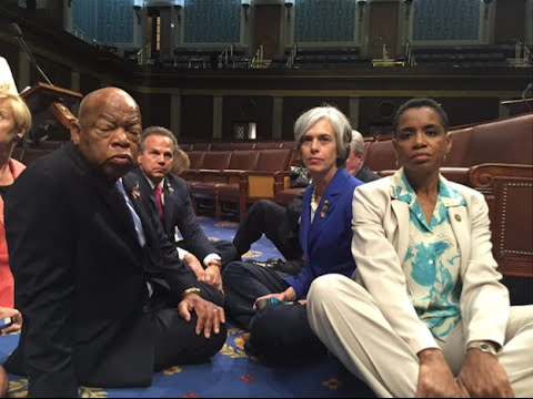 DEMOCRATS SIT-IN ON HOUSE FLOOR FOR GUN CONTROL
