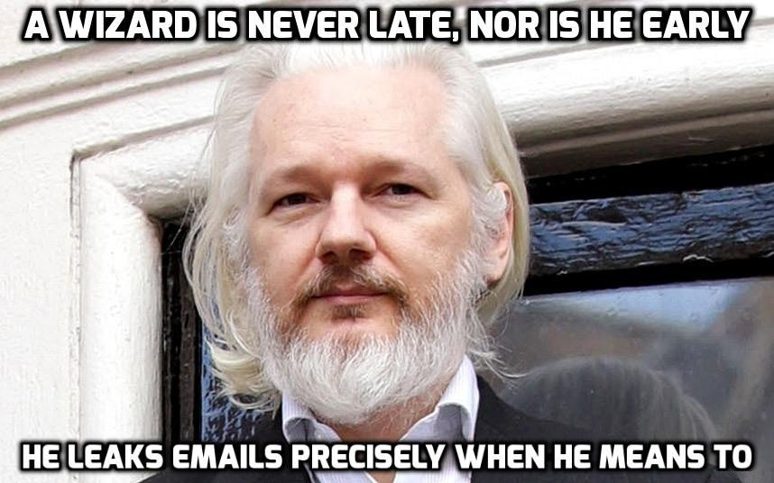"""Assange: """"Game Changing Release Could Swing Election If it Catches Fire"""""""