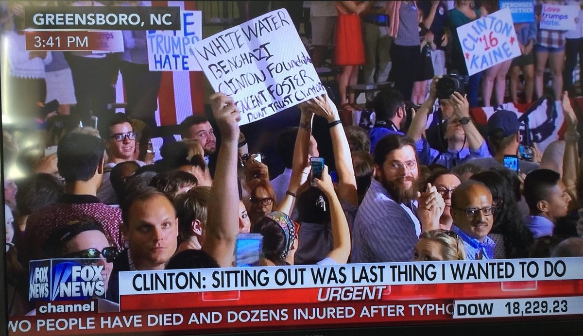 """Protester Screams """"F*CK HILLARY"""" on Live TV During Clinton Rally"""