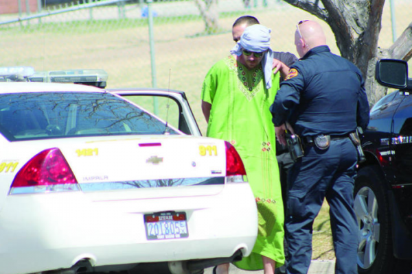 Christopher Craig during his 2014 arrest for driving onto a playground.