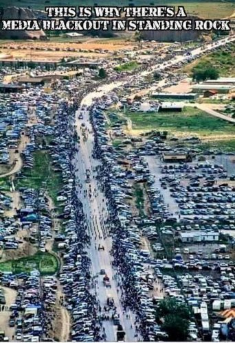 Via Walter Hunt on Facebook: A caravan of 80 cars and vans from the Eugene area arrived at Standing Rock last week with more on the way, joining the thousands from around the country and members of about 200 hundred American Indian nations. Standing Rock will stand, we must continue to support and supply this group as they occupy this location. Please share. Thanks again Sarah Charlesworth.