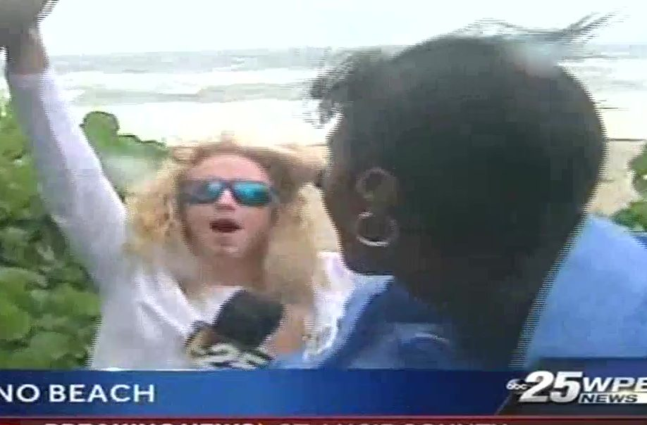 Florida Man Crashes Live Hurricane Coverage to Declare 'Dicks Out for Harambe'
