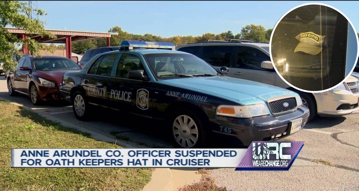 "Md. Officer Suspended Over ""Oath Keepers"" Hat."