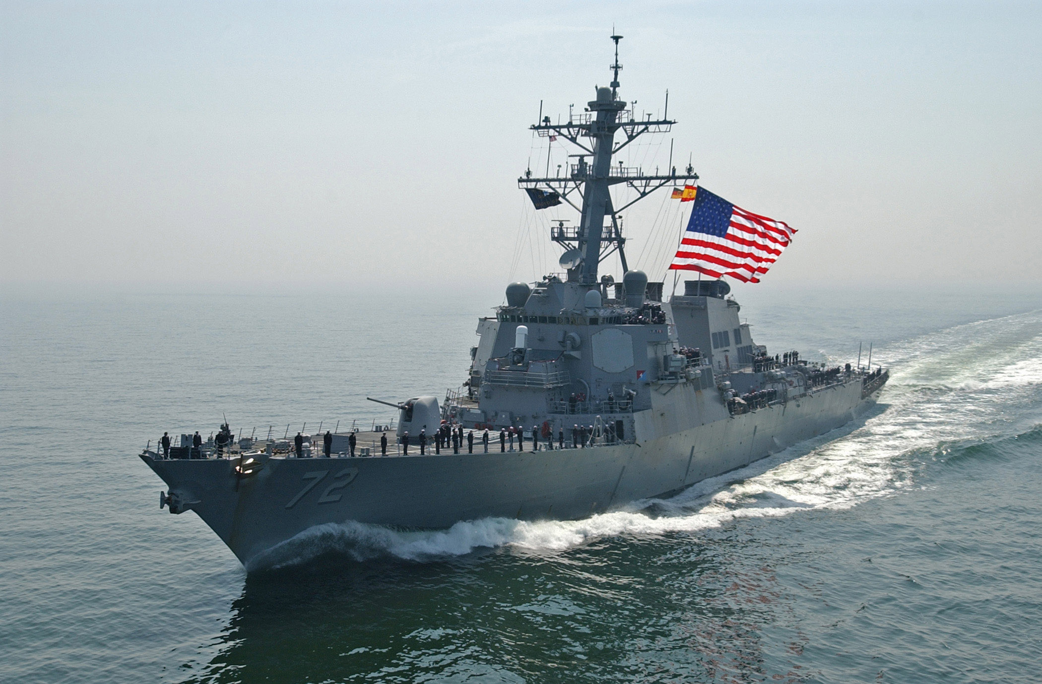 U.S. Navy Destroyer Fires Warning Shots At Iranian Patrol Ships