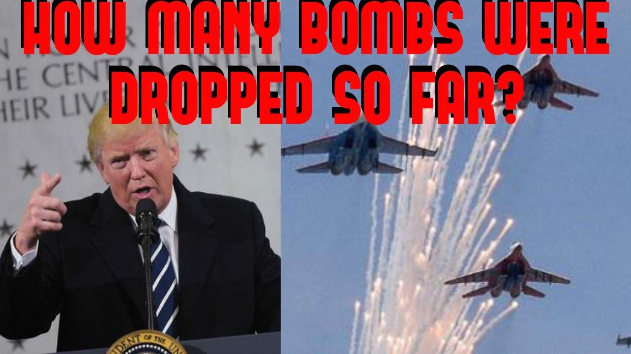 VIDEO: Here's How Many Bombs Donald Trump Has Dropped So Far…