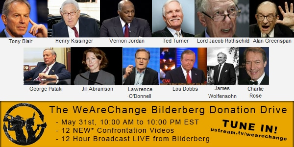 WeAreChange 2012 Bilderberg Donation Drive