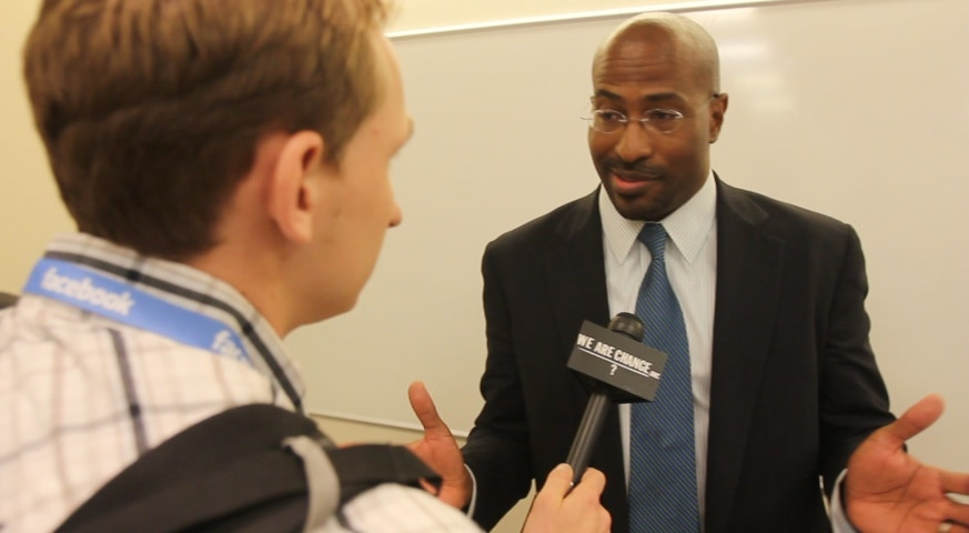 WeAreChange questions Van Jones on Libertarians Are Racist Comment & Co-Opting Occupy Wall Street