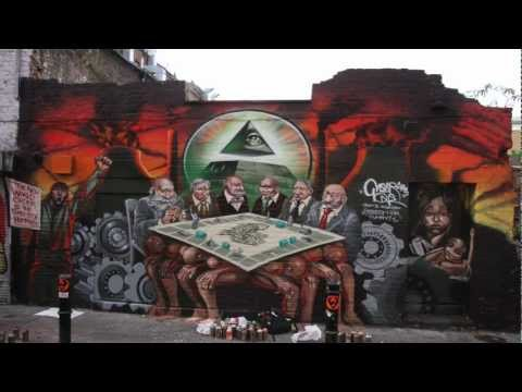 Stop Motion Video with Mear One Painting a Thought Provoking Mural in London