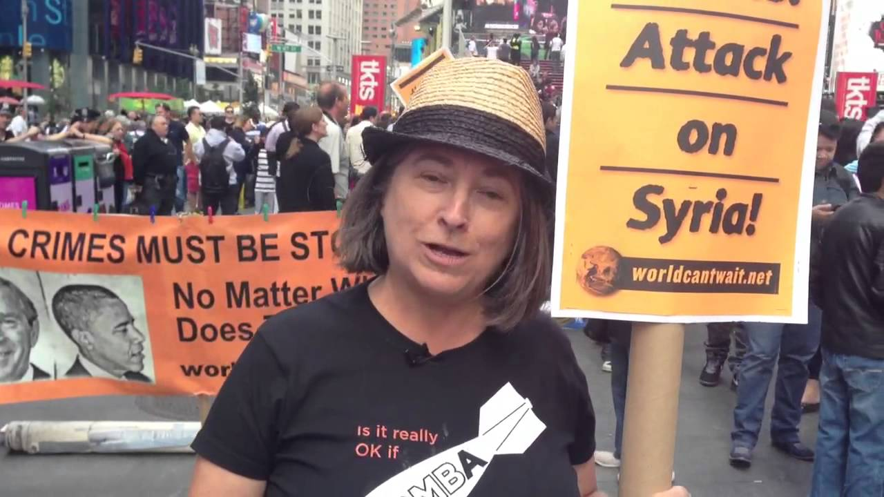Anti War Protestor on Obama's Syria Decision