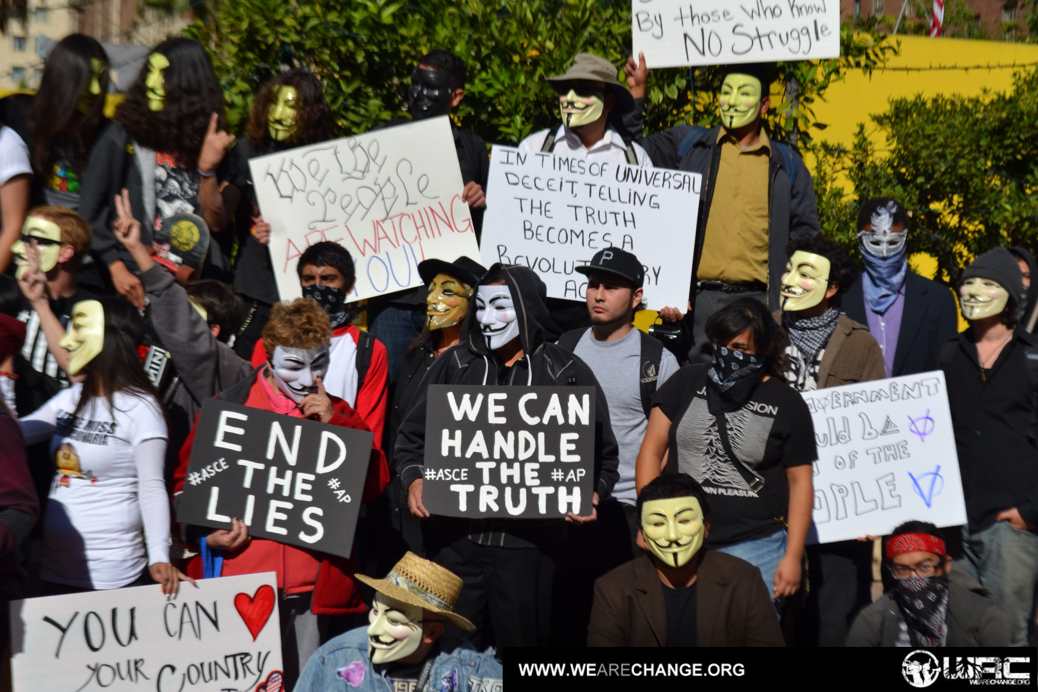 Snapshots of the Million Mask March in Los Angeles, CA