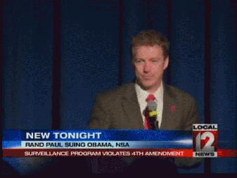 Rand Paul suing Obama and NSA
