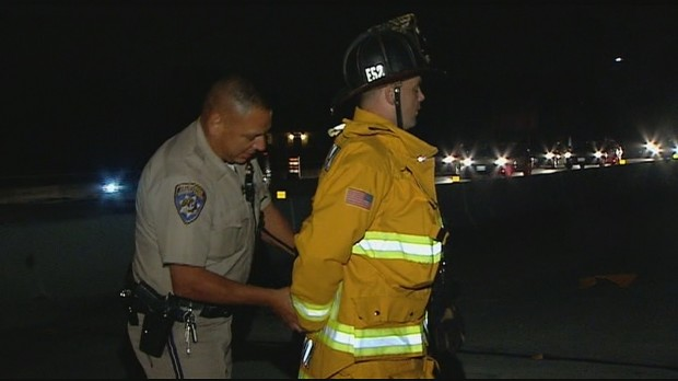 Cop Handcuffs Firefighter For Trying to Protect Crash Victims