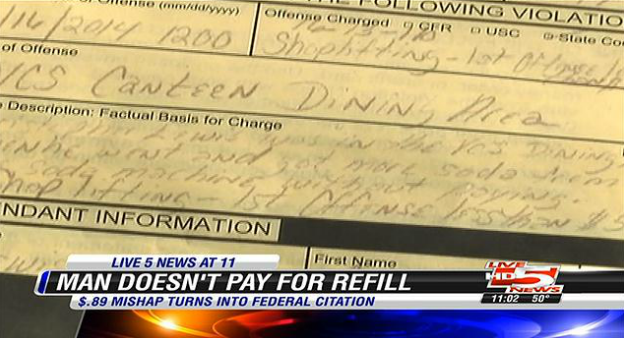 North Charleston man facing federal charges over $.89 drink refill