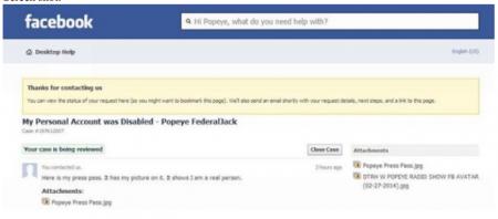 Popeye Federal Jack gets Zuckerberged