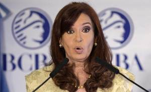 Argentina's President Cristina Kirchner charged in an emotional address that domestic and US interests were pushing to topple her government, and could even kill her.