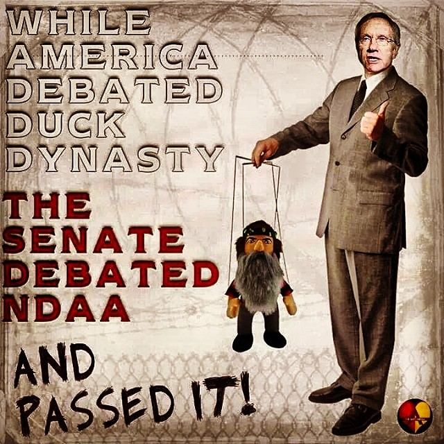 While America debated duck dynasty, the senate debated the #NDAA and passed it #wrc