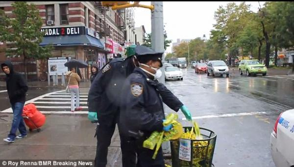 NYPD Stunner: Cops Exit Ebola Victim Apartment, Dump Gloves, Masks In Sidewalk Trash Can