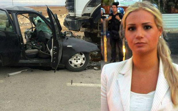 Mystery of American journalist killed in car crash in Turkey… just days after she claimed intelligence services had threatened her over her coverage of siege of Kobane