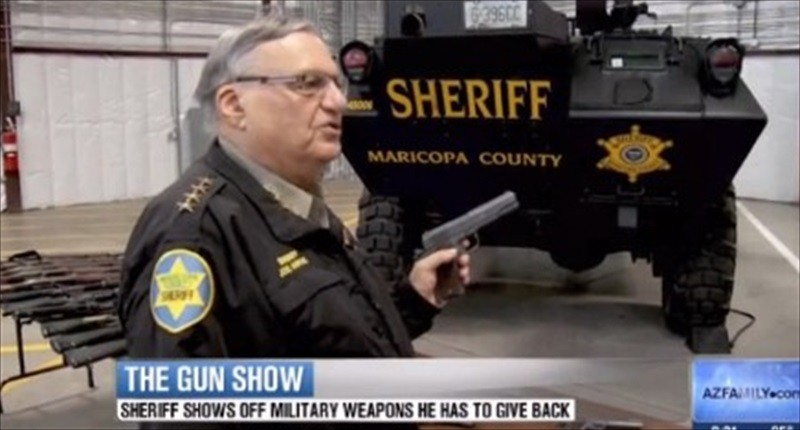 Arizona Sheriff Joe Arpaio forced to return military-grade weapons, vehicles