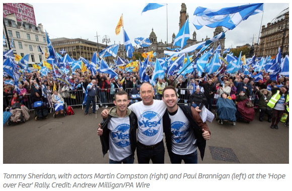 Thousands attend independence rally in Scotland