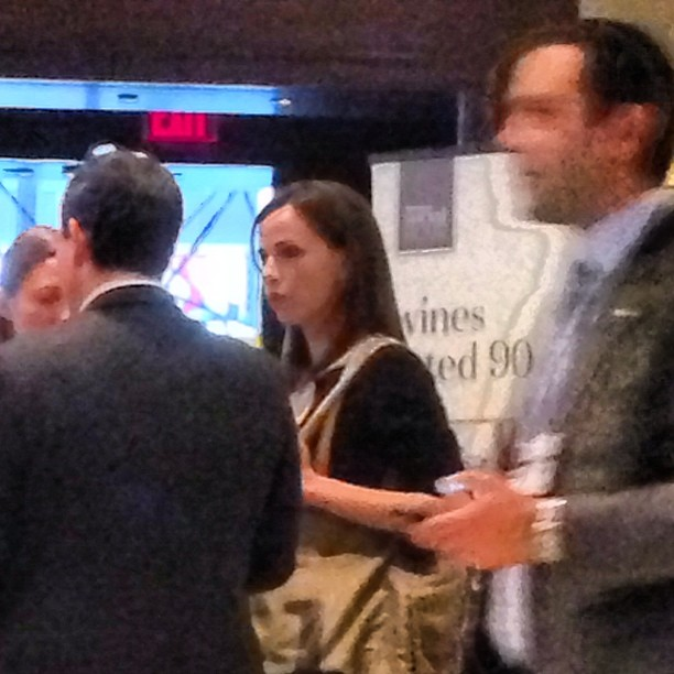 That's Barbara Pierce Bush right in front of me, sadly she declined to be interviewed #wrc