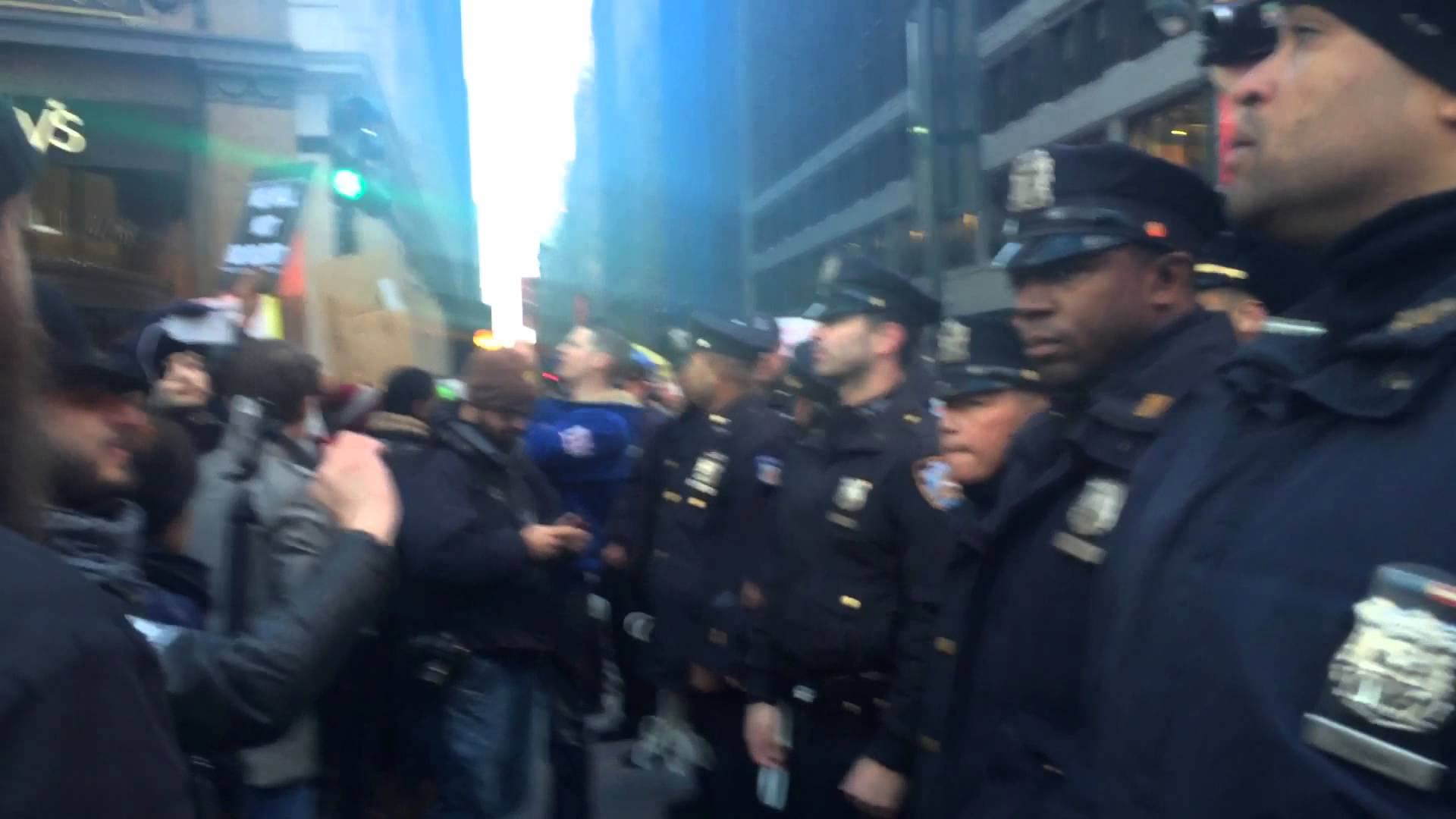 Blackout Black Friday Arrests and LRAD by the NYPD