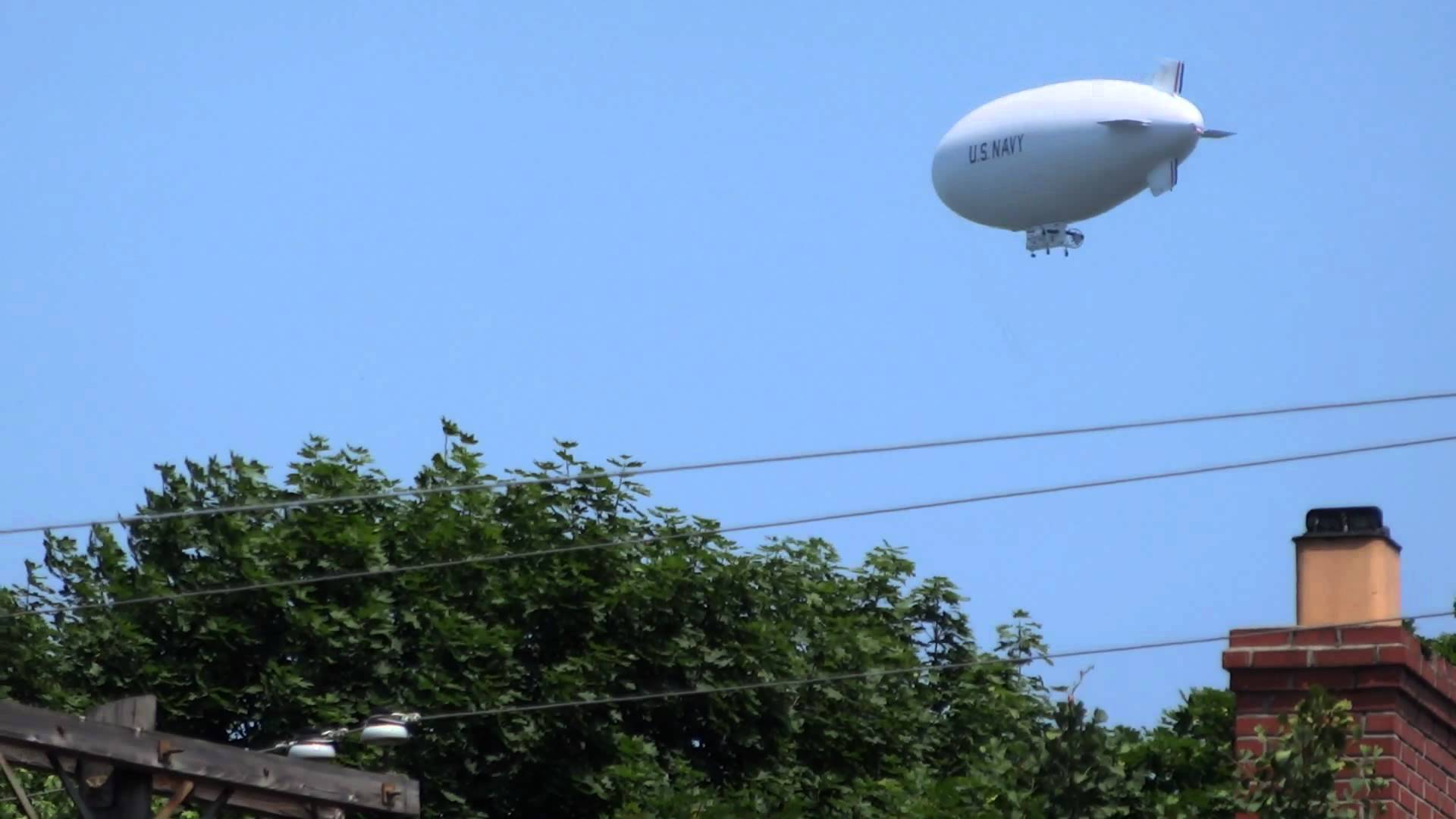 Navy Blimp Filmed Hovering Over New Jersey Towns