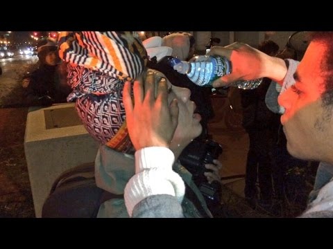 Journalist Pepper Sprayed As Police Stop March For Eric Garner