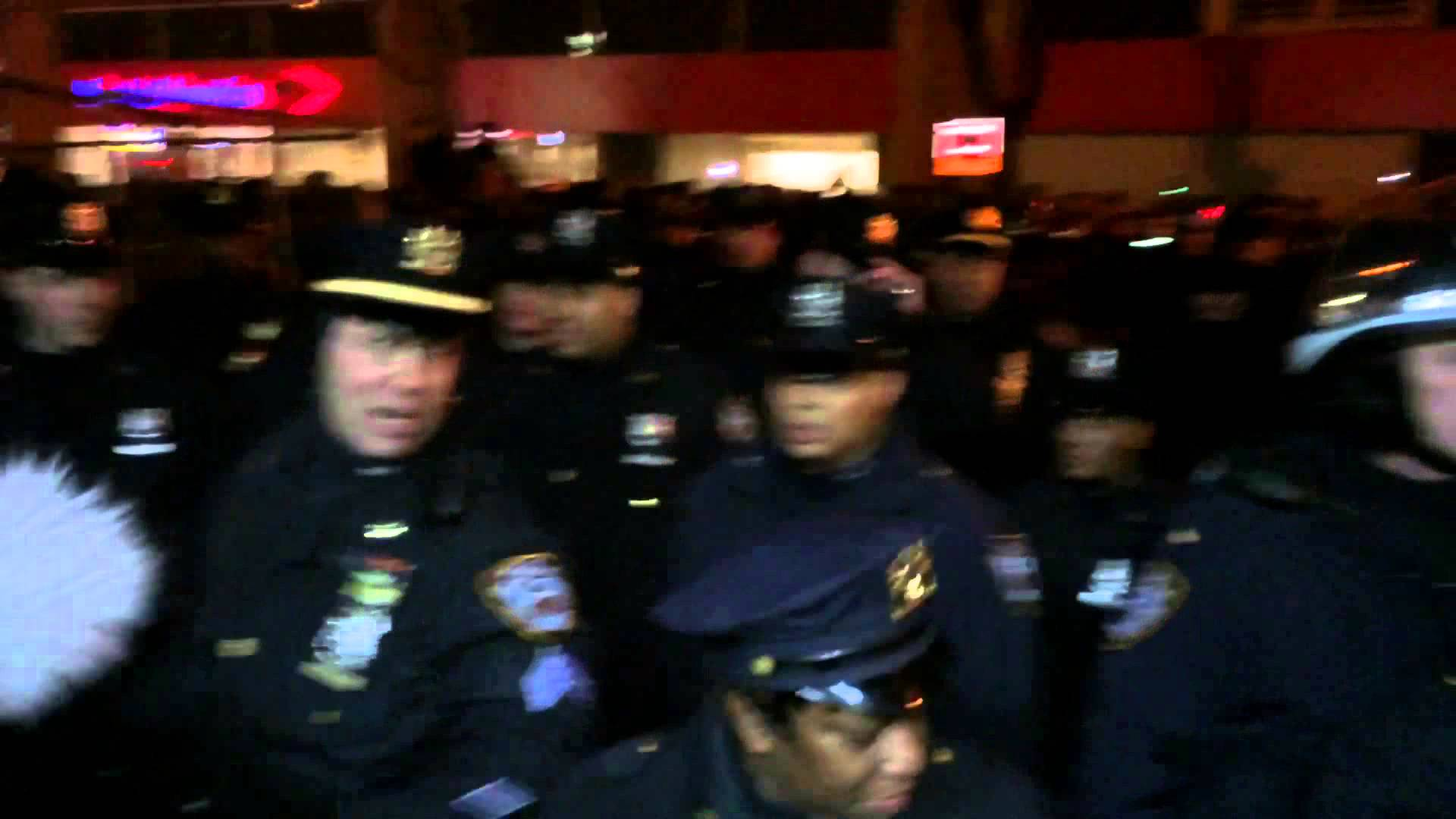NYPD Kettle Protest Then Make Violent Arrests