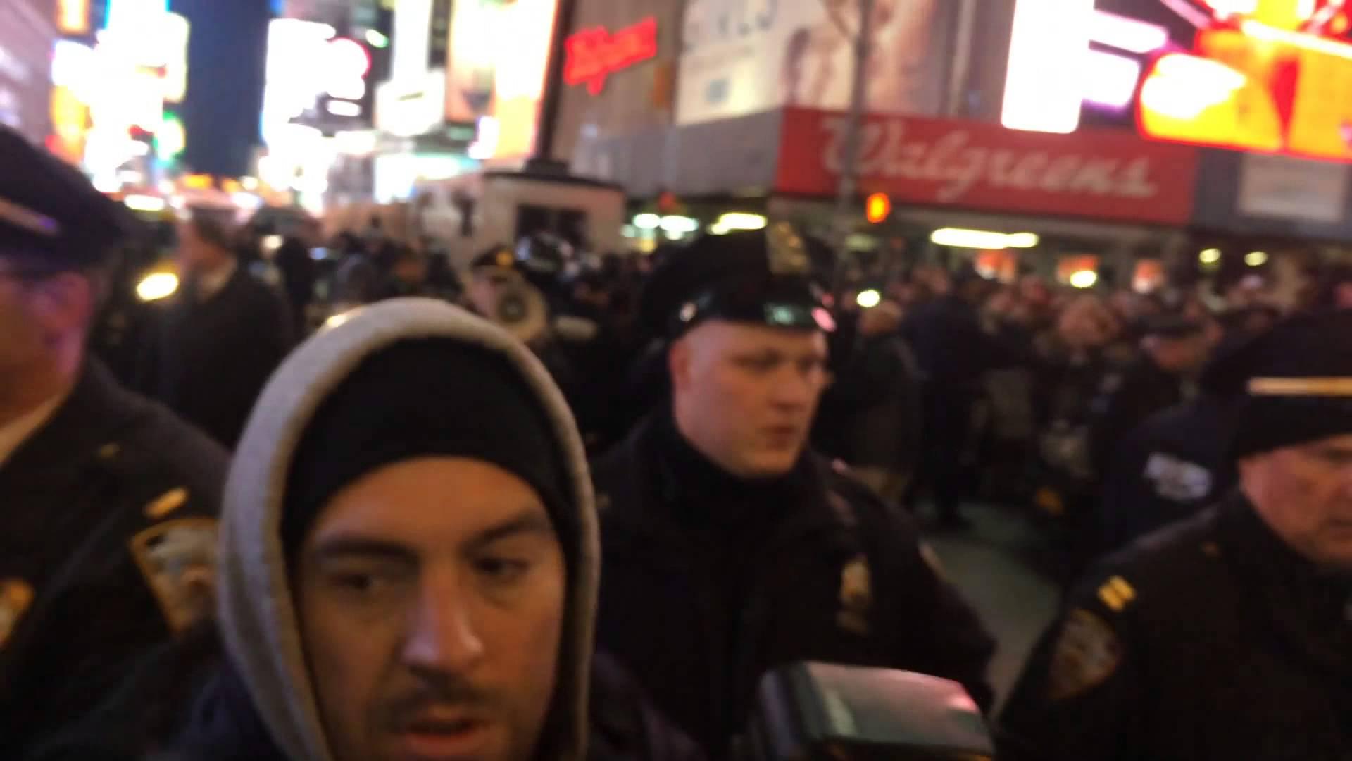NYPD Violently Push Back Eric Garner Protestors