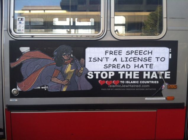 Islamophobic Bus Ads In San Francisco Are Being Defaced