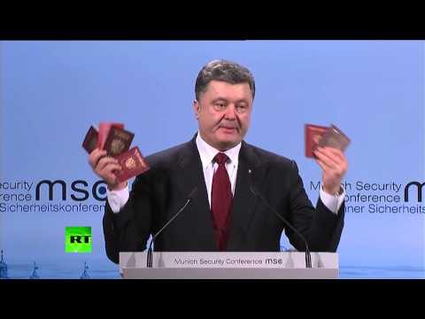Ukraine President Poroshenko's Only Evidence of Russian Invasion: Passports