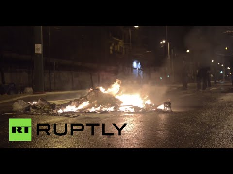 Rocks, Molotov cocktails fly in Athens in first anti-govt protest