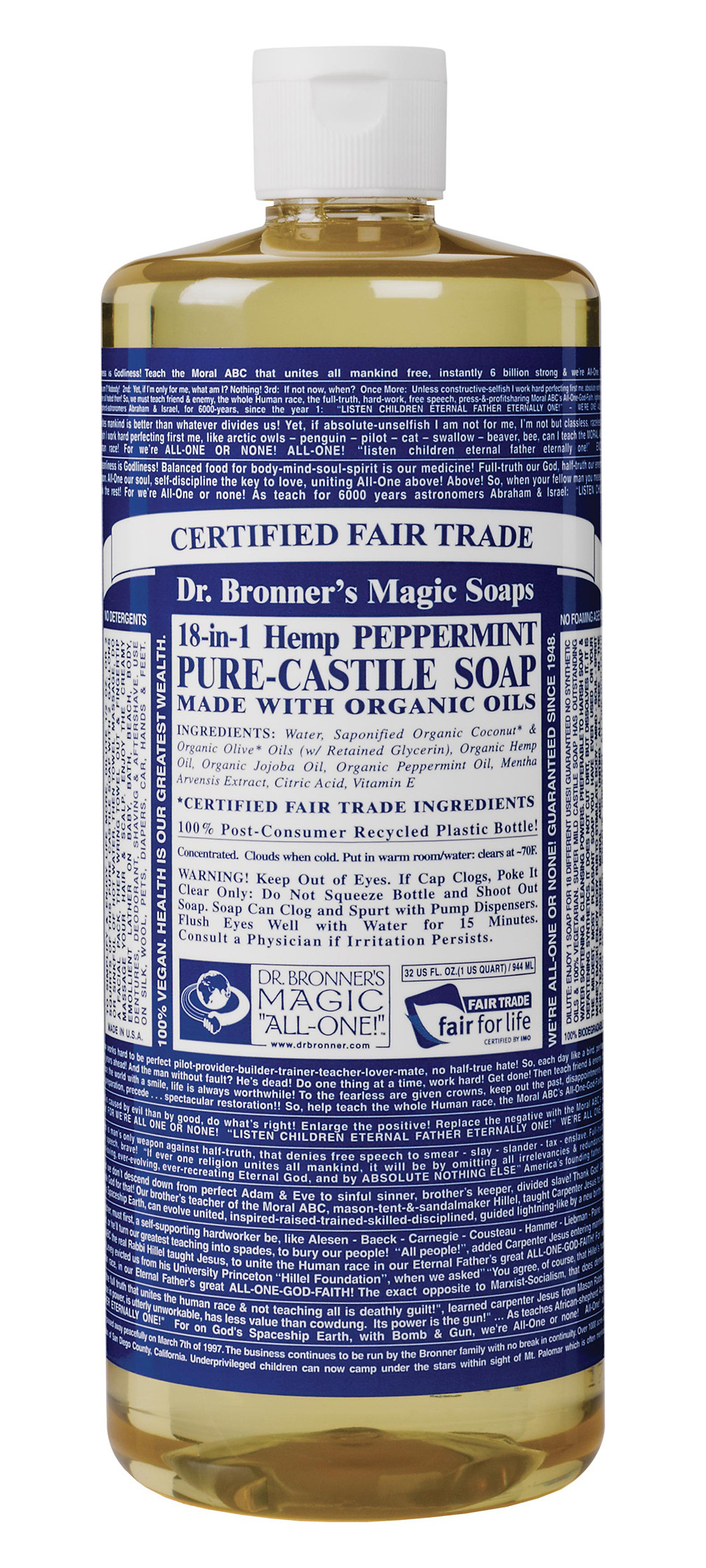 FDA Attacks Dr Bronner's, Prohibits Them From Sharing Information