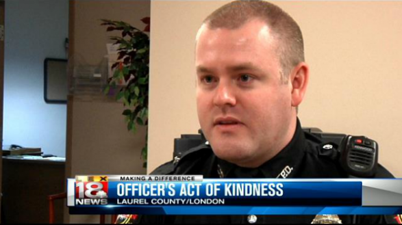 Officer's act of kindness helps shoplifter out of difficult situation